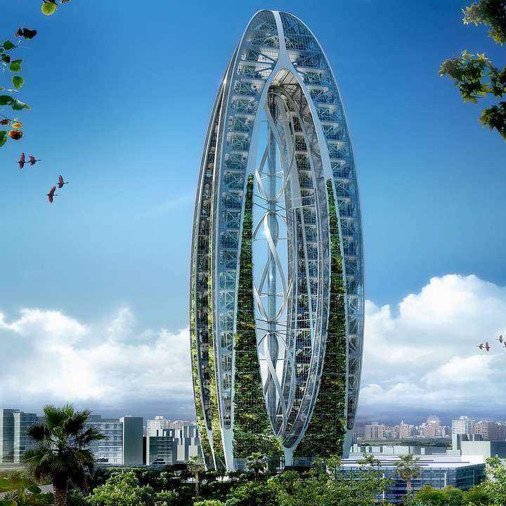El Arca Biónica de Taiwán: la naturaleza en la verticalidad